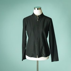 Eileen Fisher MP Black Stretch Zip Up Jacket